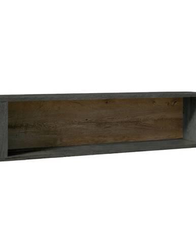 Závesná polica dub lefkas tmavý/smooth sivý MONTANA W1