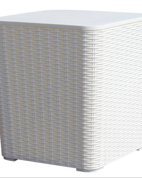 Tempo Kondela Záhradný úložný box/príručný stolík biela UGUR