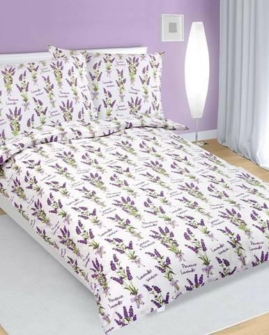Bellatex Bavlnené obliečky Levanduľa, 140 x 200 cm, 70 x 90 cm, 140 x 200 cm, 70 x 90 cm