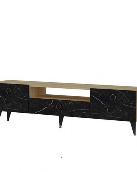 Sconto TV stolík CAVELLI dub/čierna