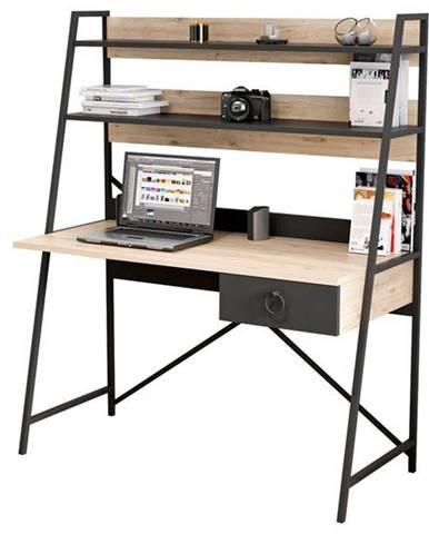 Písací stôl SAMBA čierna/dub