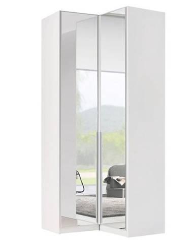 Rohová šatníková srkiňa ARIANNA alpská biela/vysoký lesk, 100 cm