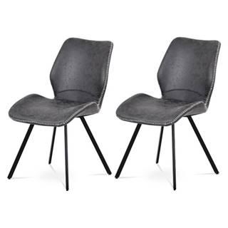Sada jedálenských stoličiek ANNIE 2 ks, sivá