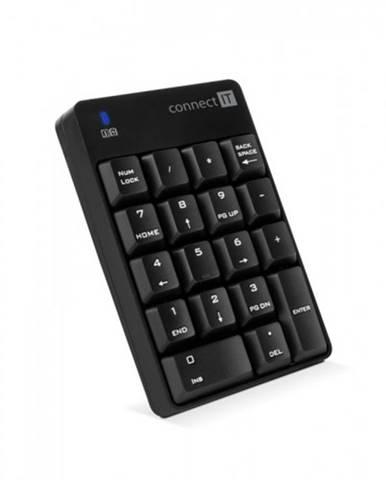 Numerická bezdrôtová klávesnica Connect IT NumCALC, čierna