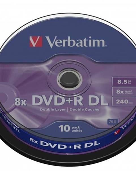 Verbatim Disk Verbatim DVD+R, 8,5GB, bez možnosti potlače, 10 ks 43666