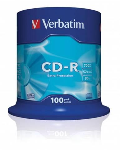 Disk Verbatim CD-R, 700MB, bez možnosti potlače, 100 ks 43411