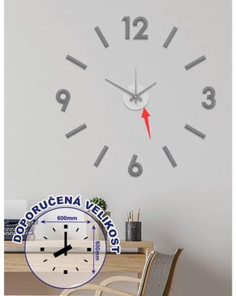 OKAY nábytok Nástenné hodiny - H17, 50 cm, sivá