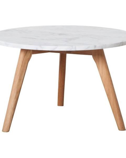 Zuiver Odkladací stolík s doskou v dekore kameňa Zuiver, Ø50 cm