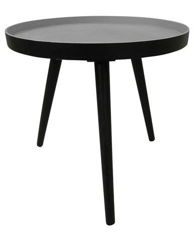 Čierny odkladací stolík WOOOD Sasha, ø41cm