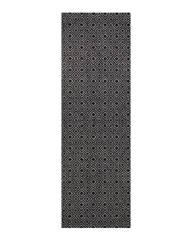 Sivo-čierny behúň Zala Living Cook & Clean Teresa, 60×180cm