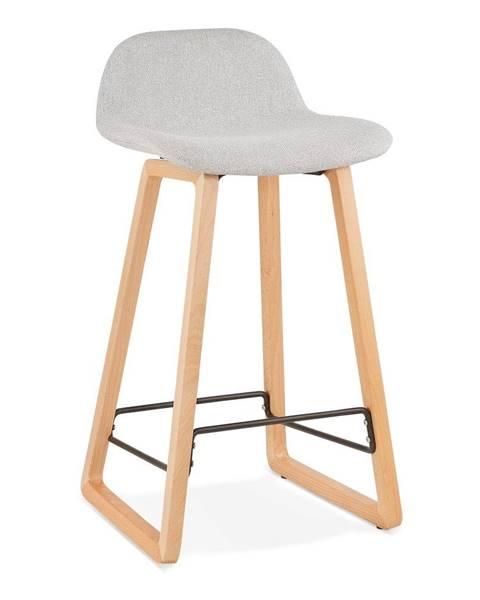 Kokoon Svetlosivá barová stolička Kokoon Trapu Mini, výška sedu 72 cm
