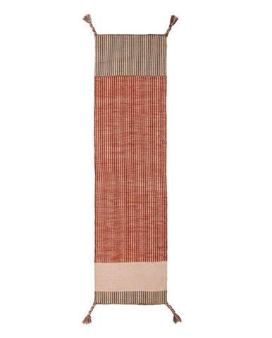Oranžový vlnený behúň Flair Rugs Anu, 60 x 200 cm