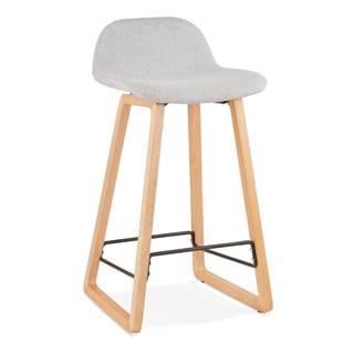 Svetlosivá barová stolička Kokoon Trapu Mini, výška sedu 72 cm