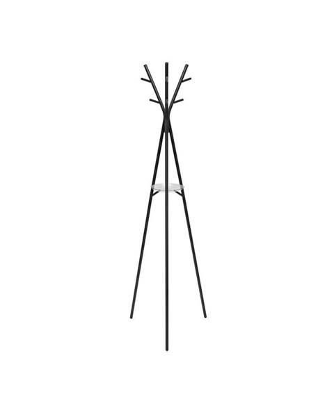 Leitmotiv Oceľový stojací vešiak v čiernej farbe Leitmotiv Deer