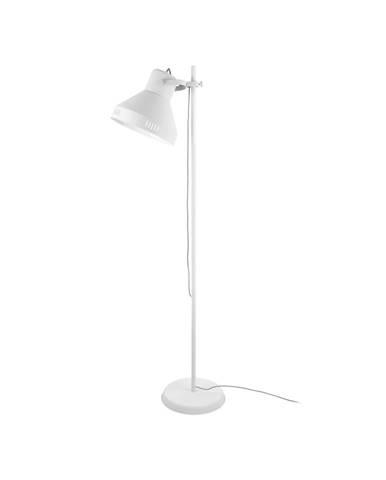Biela stojacia lampa Leitmotiv Tuned Iron, výška 180 cm