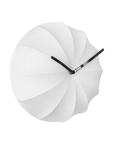 Biele nástenné hodiny Karlsson Stretch, ø 40 cm