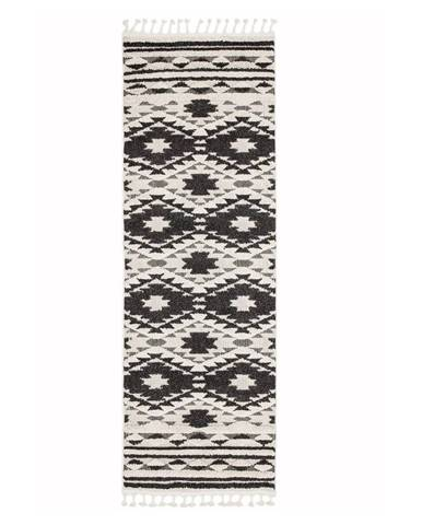 Čierno-biely koberec Asiatic Carpets Taza, 80 x 240 cm