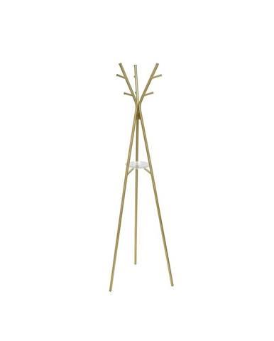 Oceľový stojací vešiak v zlatej farbe Leitmotiv Deer