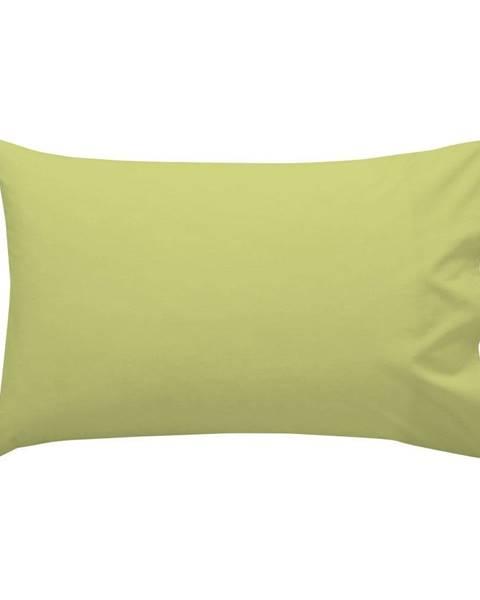 Happy Friday Basic Zelená bavlnená obliečka na vankúš , 50 × 30 cm