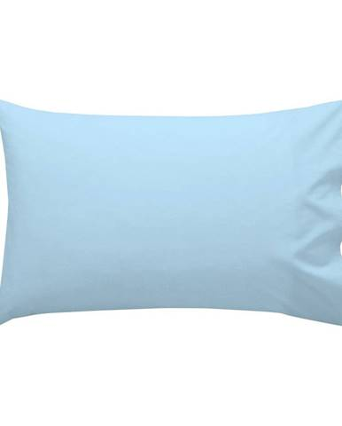 Modrá bavlnená obliečka na vankúš , 40 × 60 cm