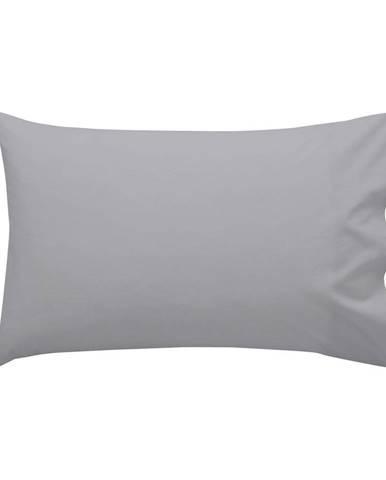 Sivá bavlnená obliečka na vankúš , 40 × 60 cm