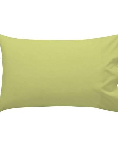 Zelená bavlnená obliečka na vankúš , 40 × 60 cm