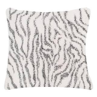 Bielo-sivý bavlnený dekoratívny vankúš Tiseco Home Studio Zebra, 45 x 45 cm