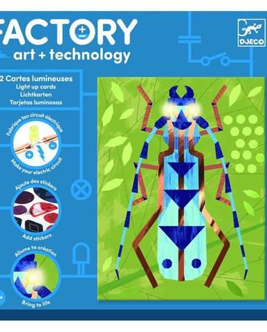 Sada 3 svetielkujúcich obrázkov Djeco Insectarium