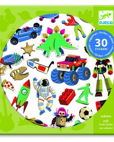 Sada 30 samolepiek Djeco Retro Toys