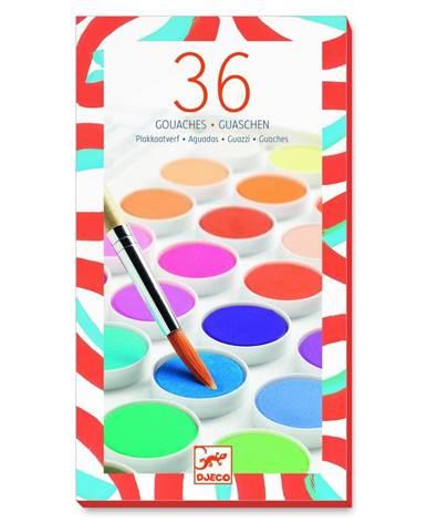 Sada 36 vodových farieb Djeco Maxi