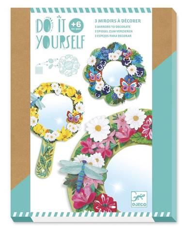 Set na výrobu 3 dekoratívnych zrkadiel Djeco Fairy