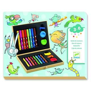 Výtvarnícky kufrík s pastelkami a fixkami Djeco