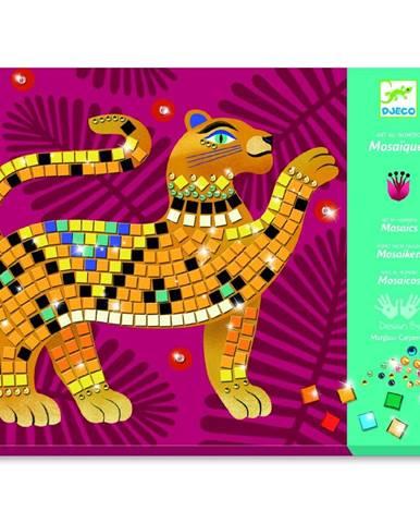 Kreatívny set pre výrobu trblietavej mozaiky Djeco Jungle