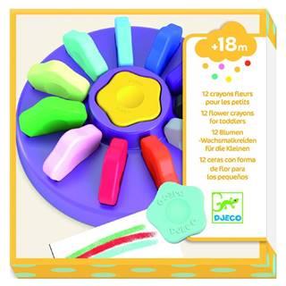 Sada 12 farebných kried v škatuľke Djeco Flower