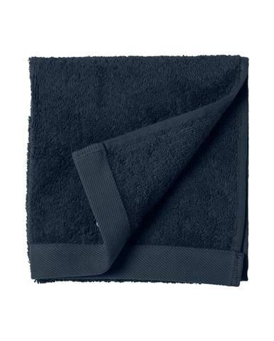 Modrý uterák z froté bavlny Södahl Indigo, 60 x 40 cm