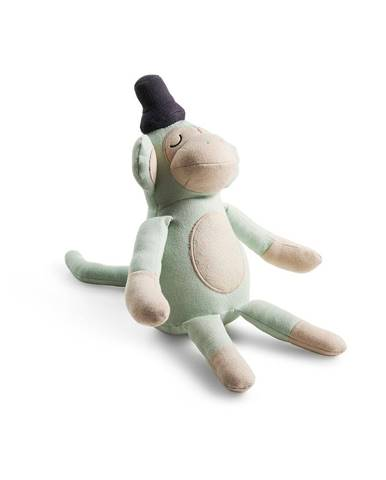 Zelená plyšová hračka opica Södahl, výška50cm