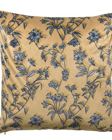 Žltý bavlnený vankúš Södahl Flora, 50 x 50 cm