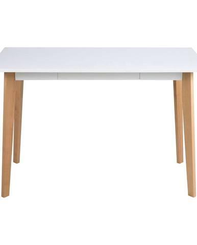 Písací stôl s podnožím z dreva brezy Actona Raven