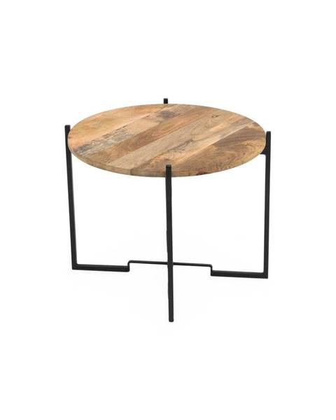 WOOX LIVING Konferenčný stolík so železnou konštrukciou WOOX LIVING Fera, ⌀ 63 cm
