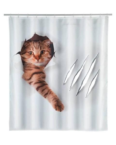Wenko Sprchový záves Wenko Cat, 180×200 cm