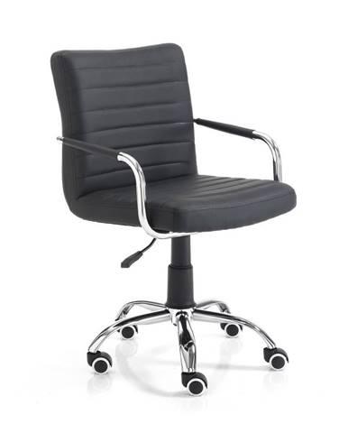 Čierna kancelárska stolička na kolieskach Tomasucci Milko