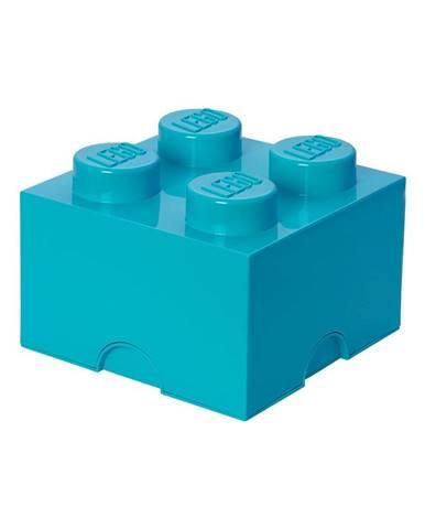 Azúrovomodrý úložný box štvorec LEGO®