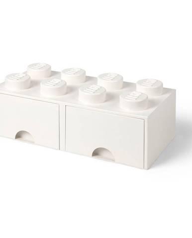 Biely úložný box s dvomi zásuvkami LEGO®
