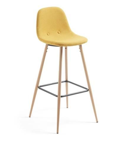 Horčicovožltá barová stolička La Forma Nilson