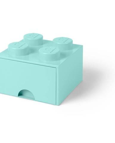 Mentolovozelený úložný box štvorec LEGO®