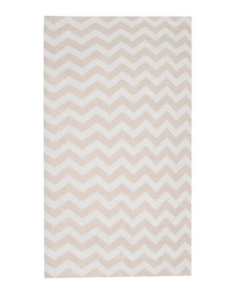 Floorita Béžovo-biely behúň Floorita Optical Beige, 60×220cm