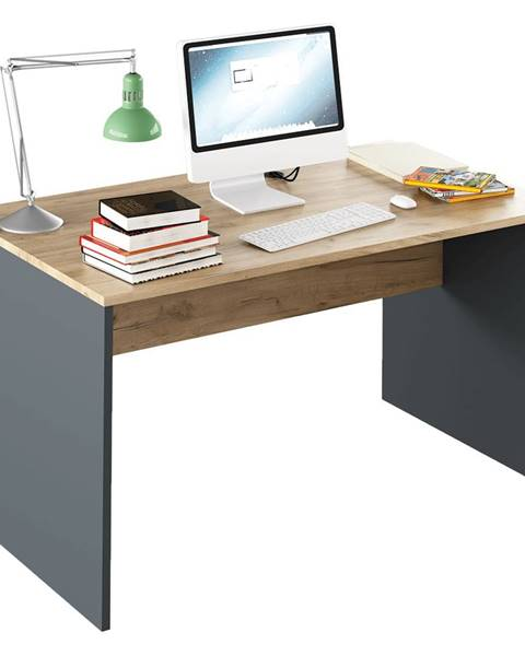 Kondela Písací stôl grafit/dub artisan RIOMA NEW TYP 11