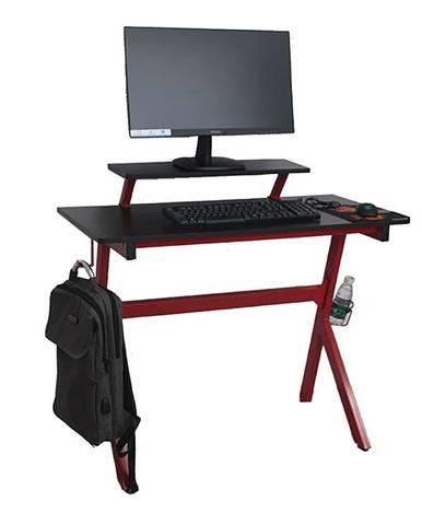 PC stôl/herný stôl červená/čierna LATIF
