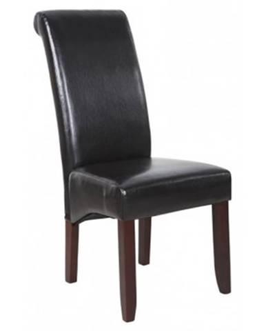 Jedálenska stolička Lenox, hnedá ekokoža%