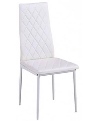 Jedálenská stolička Rimini, biela ekokoža%